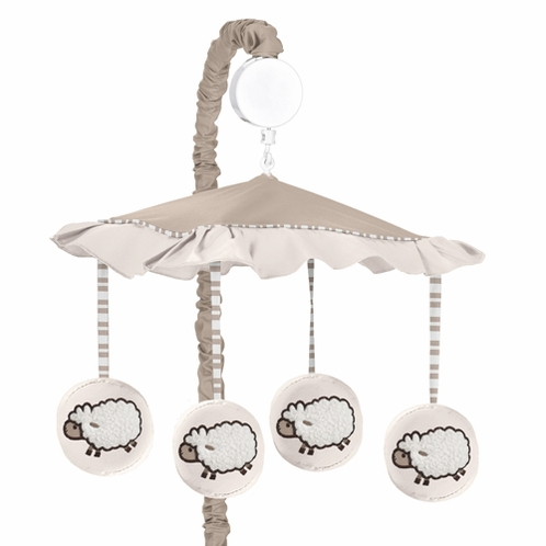 Little Lamb Musical Baby Crib Mobile by Sweet Jojo Designs - Click to enlarge
