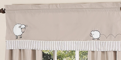 Little Lamb Window Valance by Sweet Jojo Designs - Click to enlarge