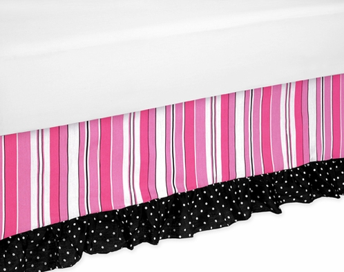 Madison Bed Skirt for Toddler Bedding Sets by Sweet Jojo Designs - Click to enlarge