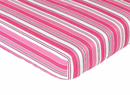 Madison Fitted Crib Sheet for Baby/Toddler Bedding Sets - Stripe Print - Click to enlarge