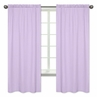 Mini Lavender Polka Dot Window Treatment Panels for Purple and Brown Mod Dots Collection - Set of 2