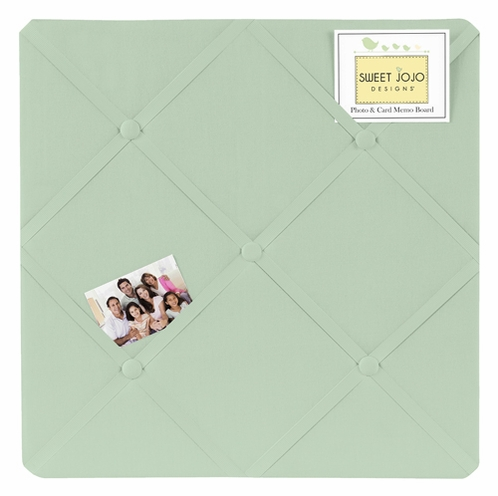 Mint Fabric Memory/Memo Photo Bulletin Board by Sweet Jojo Designs - Click to enlarge
