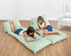 Mint Green Kids Teen Floor Pillow Case Lounger Cushion Cover by Sweet Jojo Designs