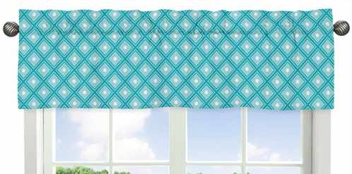 Window Valance for Mod Elephant Collection by Sweet Jojo Designs - Click to enlarge