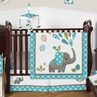 Mod Elephant Baby Bedding - 4pc Boy or Girl Crib Set by Sweet Jojo Designs