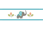 Mod Elephant Childrens and Kids Modern Wall Paper Border by Sweet Jojo Designs