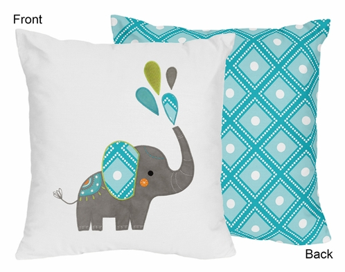 Mod Elephant Decorative Accent Throw Pillow by Sweet Jojo Designs - Click to enlarge