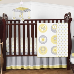 Mod Garden Baby Bedding - 4pc Crib Set by Sweet Jojo Designs