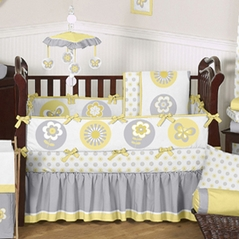 Mod Garden Baby Bedding - 9pc Crib Set by Sweet Jojo Designs
