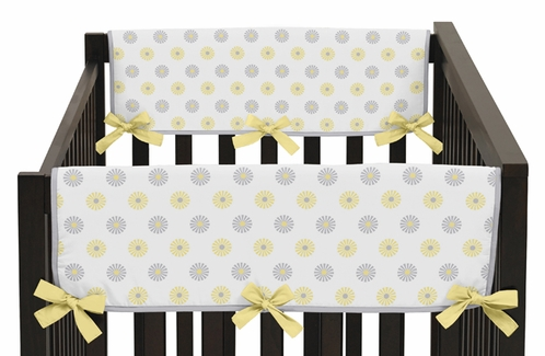 Mod Garden Baby Crib Side Rail Guard Covers by Sweet Jojo Designs - Set of 2 - Click to enlarge