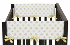 Mod Garden Baby Crib Side Rail Guard Covers by Sweet Jojo Designs - Set of 2