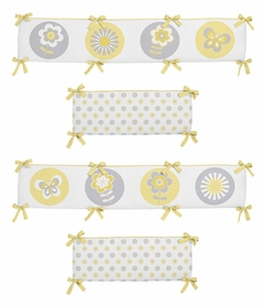Mod Garden Collection Crib Bumper by Sweet Jojo Designs