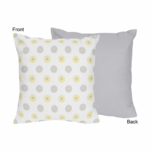 Mod Garden Decorative Accent Throw Pillow by Sweet Jojo Designs - Click to enlarge
