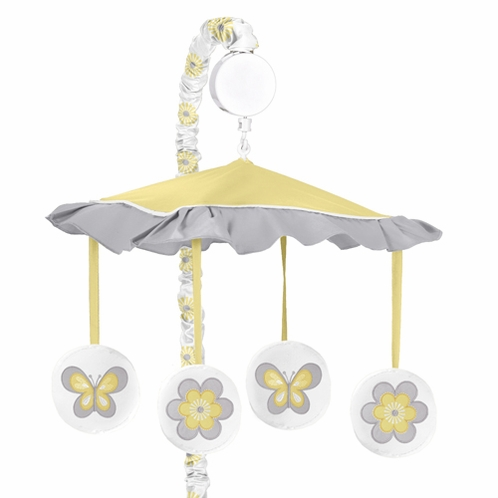 Mod Garden Musical Baby Crib Mobile by Sweet Jojo Designs - Click to enlarge