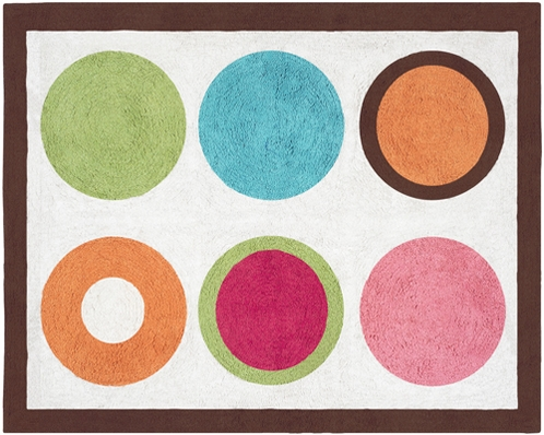 Modern Deco Dot Accent Floor Rug - Click to enlarge