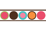 Modern Deco Dot Children and Kids Wall Border by Sweet Jojo Designs