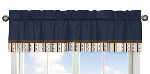 Modern Robot�Collection Window Valance by Sweet Jojo Designs - Click to enlarge