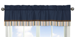 Modern Robot�Collection Window Valance by Sweet Jojo Designs