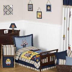 Modern Robot Toddler Bedding - 5pc Set by Sweet Jojo Designs