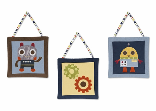 Modern Robot Wall Hanging Accessories by Sweet Jojo Designs - Click to enlarge
