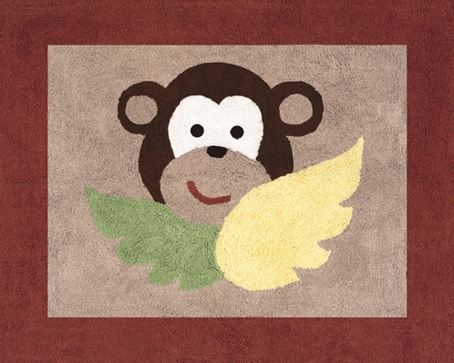 Monkey Accent Floor Rug - Click to enlarge