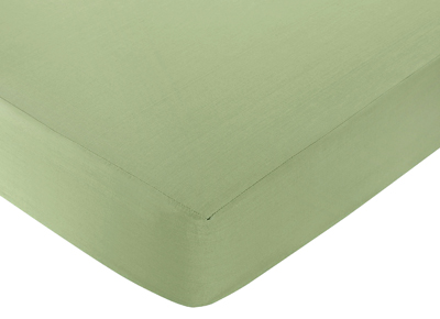 Monkey Fitted Crib Sheet for Baby/Toddler Bedding Sets - Avocado Green - Click to enlarge
