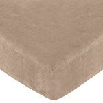 Monkey Fitted Crib Sheet for Baby/Toddler Bedding Sets - Camel Microsuede