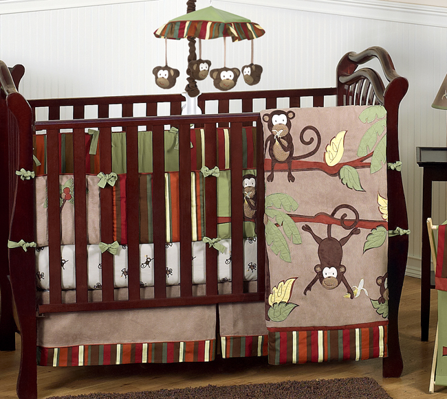 monkey baby bedding 9pc boys crib set only 189 99