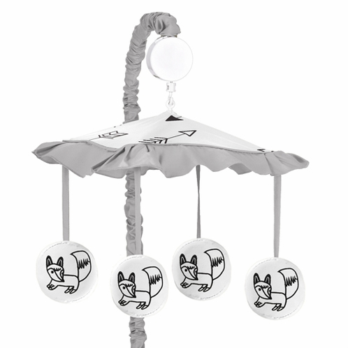 Musical Baby Crib Mobile for Black and White Fox Collection by Sweet Jojo Designs - Click to enlarge