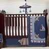 Nautical Nights Boys Sailboat Baby Bedding - 4pc Crib Set
