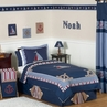 Nautical Nights Boys Sailboat Childrens Bedding - 4 pc Twin Set