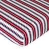 Nautical Nights Fitted Crib Sheet Baby/Toddler Bedding - Stripe Print
