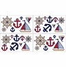 Nautical Nights Sailboat Baby and Kids Wall Decal Stickers - Set of 4 Sheets