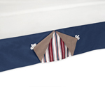 Nautical Nights Sailboat Bed Skirt for Toddler Sets by Sweet Jojo Designs