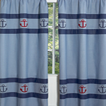 Nautical Nights Sailboat Window Treatment Panels - Set of 2