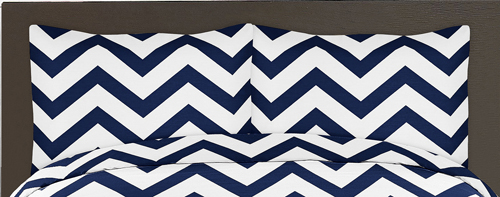 Navy And White Chevron 3pc Bed In A Bag Zig Zag King Bedding Set