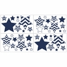 Navy and White Chevron Baby, Childrens and Kids Wall Decal Stickers - Set of 4 Sheets