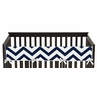 Navy and White Chevron Baby Crib Long Rail Guard Cover by Sweet Jojo Designs