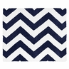 Navy and White Chevron Zig Zag Accent Floor Rug by Sweet Jojo Designs