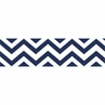 Navy and White Chevron Zig Zag Kids and Baby Modern Wall Paper Border