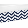 Navy and White�Zig Zag Crib Bed Skirt for Chevron�Baby Bedding Sets by Sweet Jojo Designs
