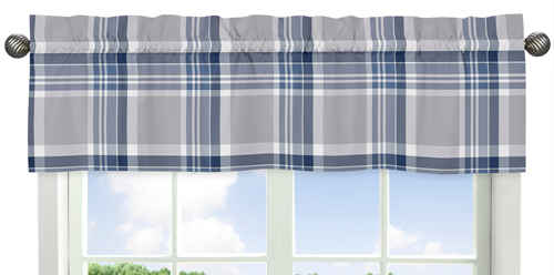 navy blue and grey plaid 4pc twin boys teen bedding set collection by sweet jojo designs only