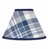 Navy Blue and Grey Plaid Boys Lamp Shade by Sweet Jojo Designs