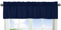 Navy Window Valance for Navy and Lime Stripe�Collection by Sweet Jojo Designs