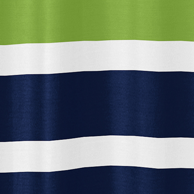 Navy Blue And Lime Green Stripe Kids Bathroom Fabric Bath Shower Curtain Only 39 99