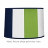 Navy Blue and Lime Green Stripe Lamp Shade by Sweet Jojo Designs