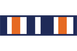 Navy Blue and Orange Stripe Childrens and Teens Modern Wall Paper Border