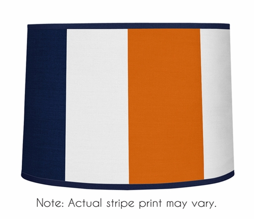 Navy Blue and Orange Stripe Lamp Shade by Sweet Jojo Designs - Click to enlarge