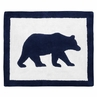 Navy Blue and White Accent Floor Rug or Bath Mat for Big Bear Collection by Sweet Jojo Designs