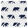 Navy Blue and White Fabric Memory/Memo Photo Bulletin Board for Big Bear Collection